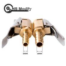 Conector de válvula de inflado de neumáticos para coche, abrazadera de 6mm y 8mm, herramientas de reparación de neumáticos