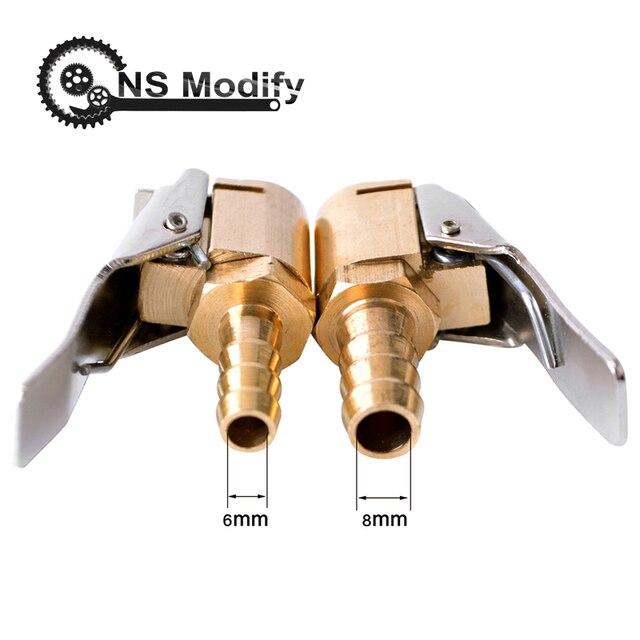 NS לשנות 1pcs אוטומטי אוויר משאבת צ אק קליפ רכב משאית צמיג צמיג Inflator Valve מחבר רכב 6mm 8mm מהדק צמיג תיקון כלים