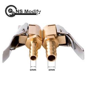Image 1 - Ns modificar 1 pçs auto bomba de ar chuck clipe carro caminhão pneu inflator válvula conector do carro 6mm 8mm braçadeira ferramentas reparo do pneu