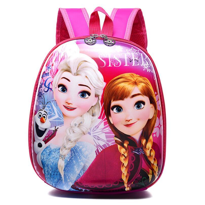 Kindergarten School Bag Small Class Cartoon Eggshell Children Backpack Boy And Girl Baby Kids Bag Elsa School Bags