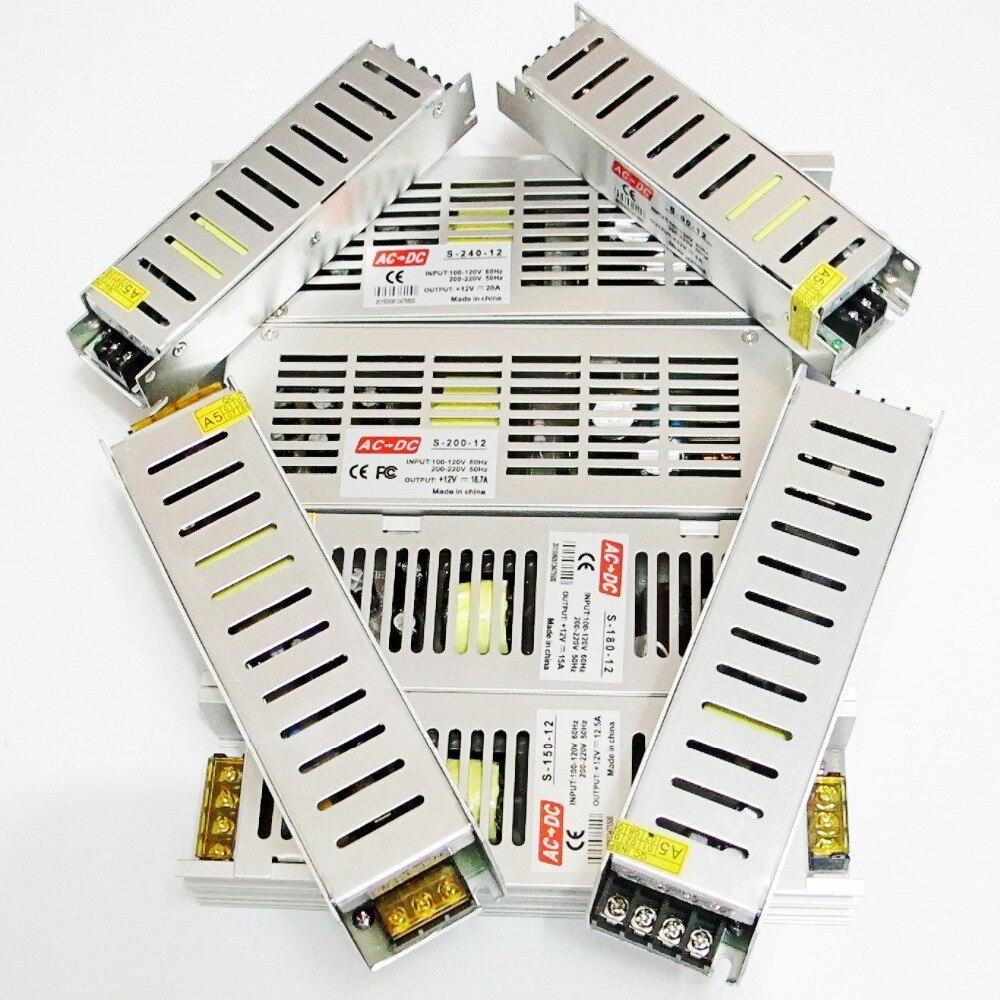High Quality 12V LED Driver Adapter 60W 80W 100W 120W 150W 180W 200W 240W for LED strip 3528 5050 Switching Power Supply steampunk soldiers