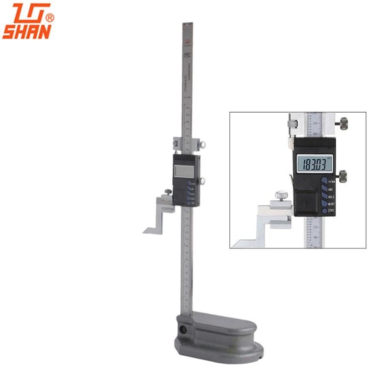 "SHAN 12 ""0-300mm/0,01 Elektronische Digital Höhenmesser Großen Bildschirm Edelstahl Messschieber Zoll/MM ABS Messung"