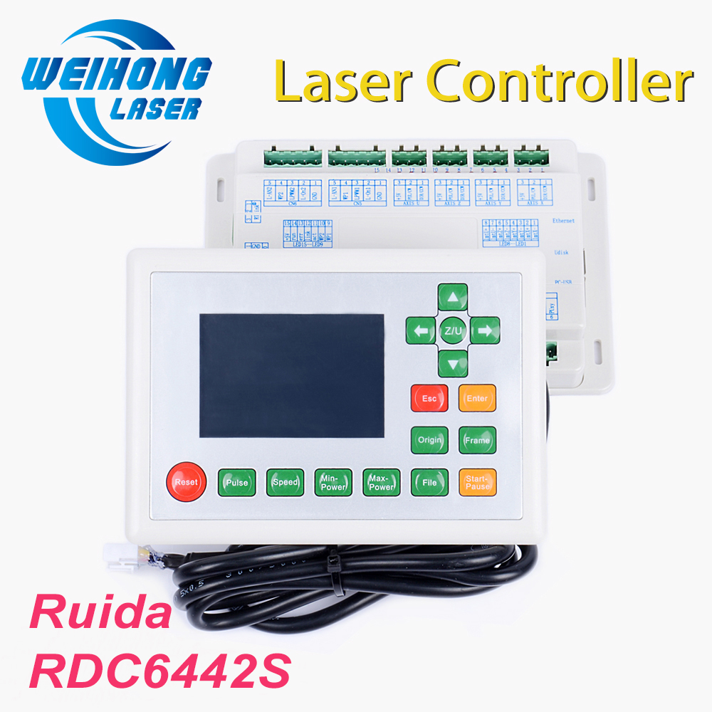 Ruida RDC6442S/G Co2 Laser DSP Controller for Co2 Laser Engraving and Cutting Machine economic leetro mpc 6525a 6535 motion controller for co2 laser cutting machine upgrade of 6515
