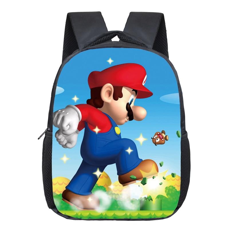 e642b5b101 Dropwow 12 Inch Super Mario Bros Kindergarten School Bags Sonic ...
