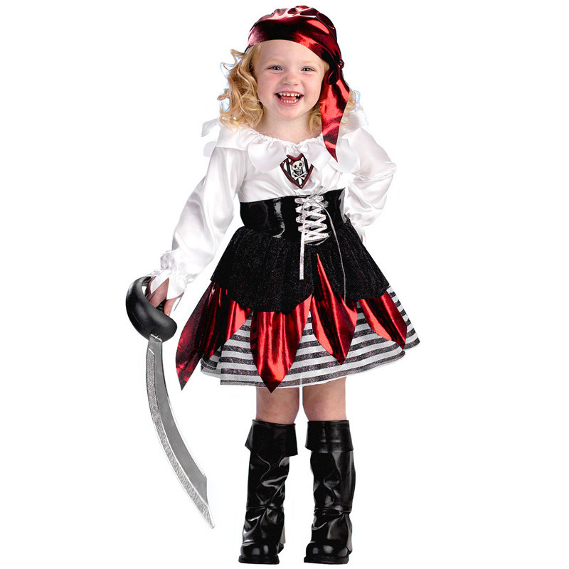 Halloween Cosplay dance pirate style party dress, princess dress girl different belt stripe girl Christmas cosplay dress EK104 devil may cry 4 dante cosplay wig halloween party cosplay wigs free shipping