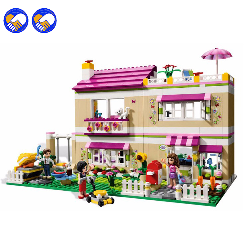 A toy A dream Bela 10164 Friends Olivia's House Blocks Bricks Toys Girl Game Castle Gift Compatible with Decool Lepin 10162 friends city park cafe building blocks bricks toys girl game toys for children house gift compatible with lego gift