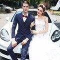 Más el tamaño S-4XL hombres de moda trajes de 3 unidades set Masculina adapte el novio se casó con traje de boda formal de la manera formal de negocios vestido