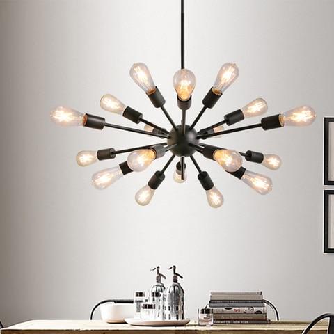 luzes de metal preto pintura lampadas nao