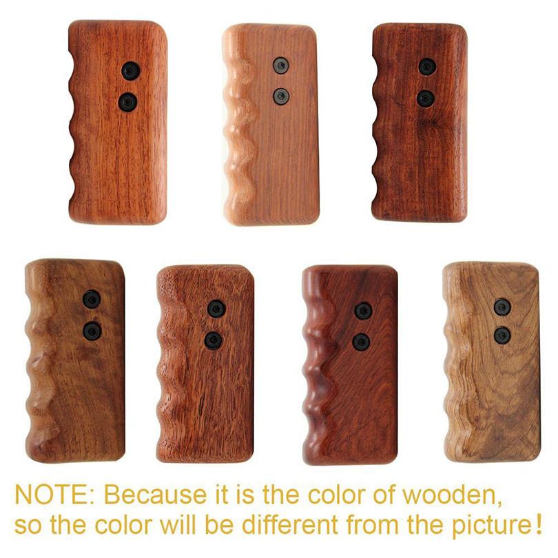 CAMVATE Wooden Handle Grip M6 ARRI Thread Fr Video DSLR Camera Cage Rig Kits High Quality Photo Studio Accessories C1319 (2)