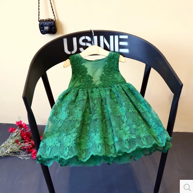 Girl dress 2017 spring and summer new children s clothing girl silk embroidery lace dress girls