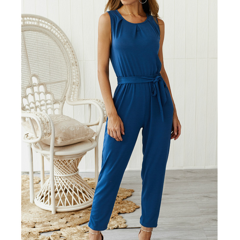 casual sleeveless rompers womens jumpsuit plus size summer