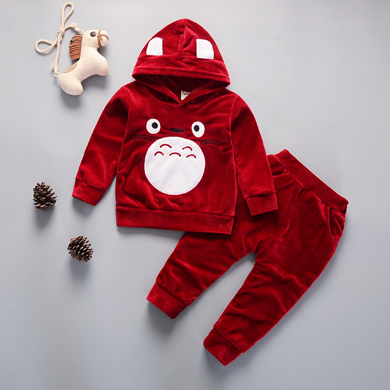 New 2018 Spring Children Clothing Sets Long Sleeve Sweatshirts + Trousers 2pcs Baby Boy Girls Suits Cotton Kids Clothes Sets lovely spring new year cotton long sleeves baby kids children suits boys pajamas christmas girls clothing sets clothes
