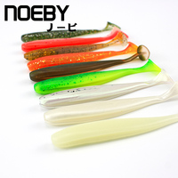 NOEBY 80pcs 10packs Combo Soft Lure Handmade Soft Fish Fishing Lure Shad Manual Silicone Bass T