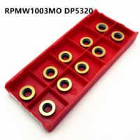 10 pcs CNC outil de tour RPMW1003 MO DP5320 intérieur rond carbure machine-outil pièces lame de fraisage RPMW1003 lame de fraisage