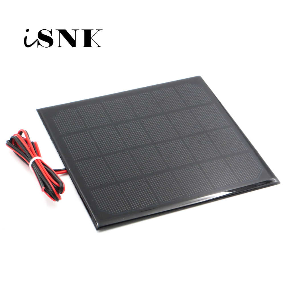 6V Solar Panel with 30/100/200cm wire Mini Solar System DIY For Battery Cell Phone Charger 0.6W 1W 1.1W 2W 3W 3.5W 4.5W Solar