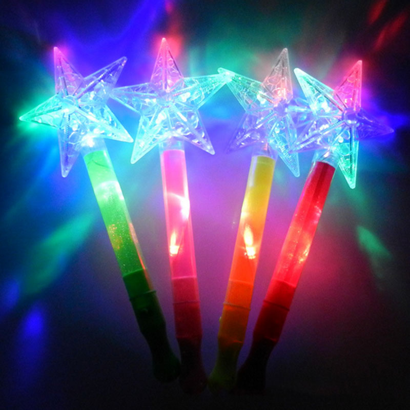 Light Up Flashing Princess Anime Wand LED Fairy Magic Big Moon Star Butterfly Flower Sticks Gift Cosplay Props In Costume From Novelty Special