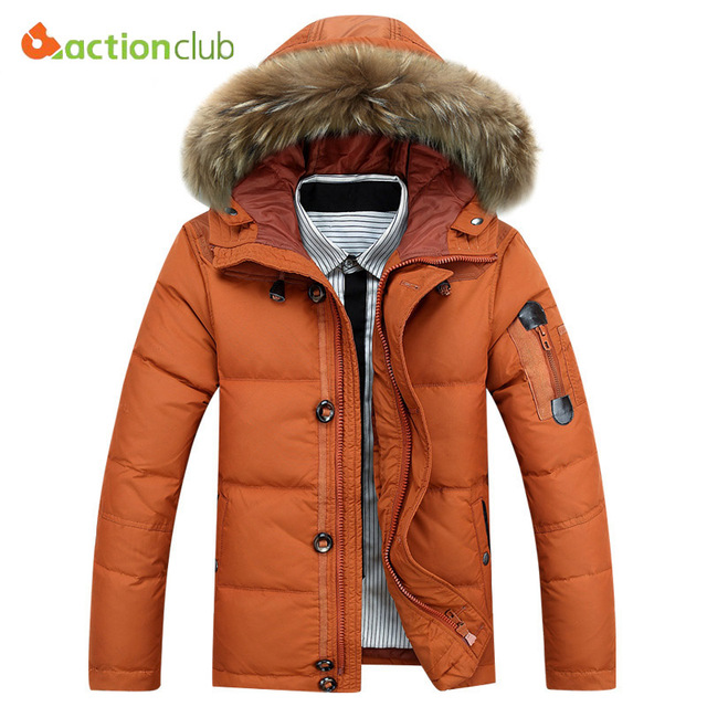 2016 New Men's Brand Battlefield Winter Keep Warm Coat 90% White Duck Down Warm Jacket Coat Casual Men's Down Jacket