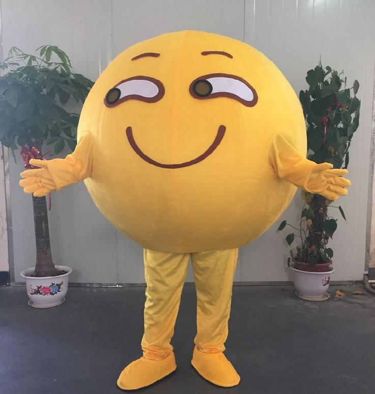 Haute qualité drôle visage Emoji sourire Emoji visage Expression mascotte Costume mascotte Costumes pour adulte Halloween fête événement
