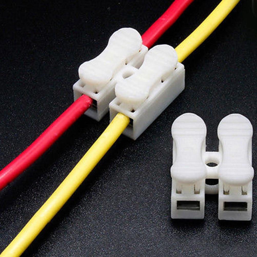 30 шт./лот быстрый фиксатор соединения соединителей CH2 2 контакты электрического кабеля терминалы 20x17,5x13,5 мм