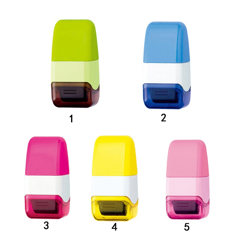 Pink Everyday Mini Roller Stamp Messy Code ID Guard Self-inking Privacy Protection Stamp