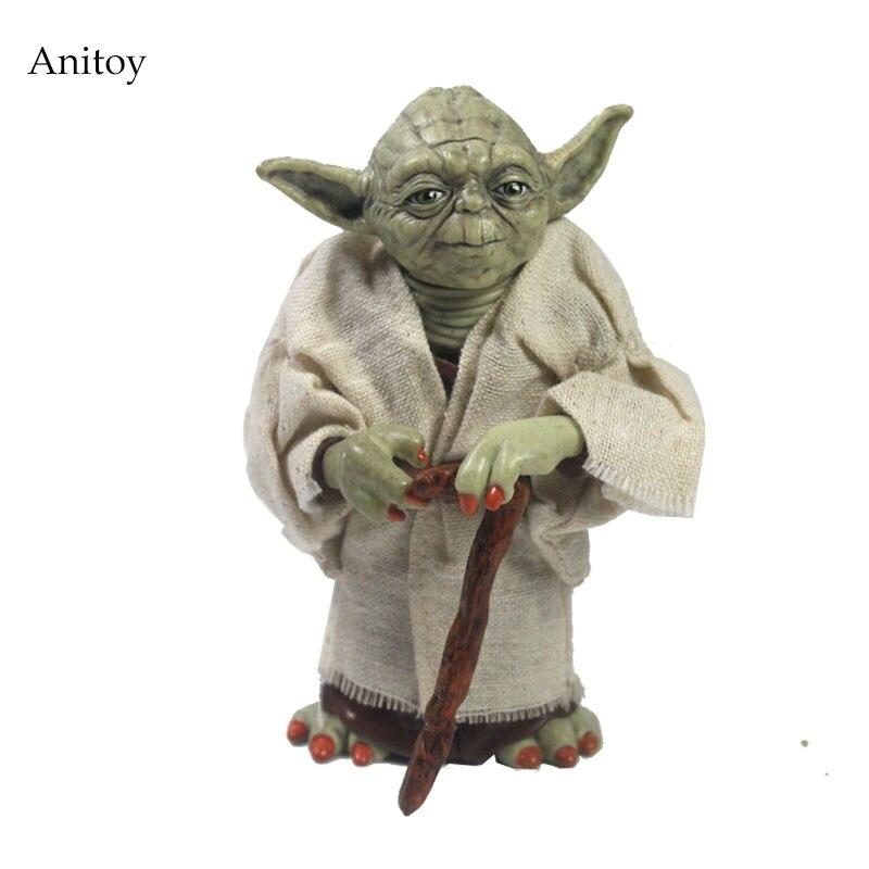Star Wars Jedi Caballero maestro Yoda PVC acción figura coleccionable muñeca modelo regalo 12 cm KT2029