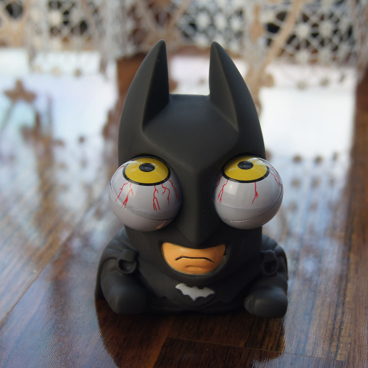 2014 Factory Outlet healing proptosis explosive decompression vent burst eye Batman explosion eye toy doll Tricky