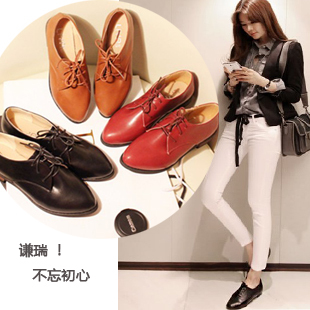 new arrival vintage shoes women single leather shoes unisex flat heel  leisure oxford shoes spring summer female flats 23e067e9dd