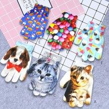 Перчатки guantes Детские ганты Милые 3D eldiven с животным принтом вязаные Kitty Pet детские милые перчатки Модные теплые зимние перчатки L50