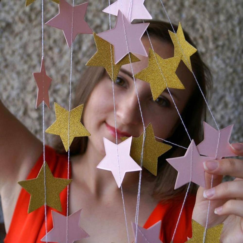 2μ Αστέρι Γκέρλαντ Circle Χαρτί Garland Strings - Προϊόντα για τις διακοπές και τα κόμματα - Φωτογραφία 2