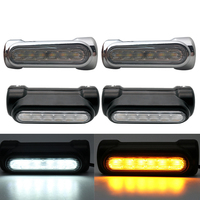 For Victory Crash Bars Motorcycle Accessories Highway Bar Switchback Driving Light White Amber LED ForTouring