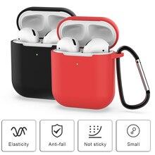 Мягкий силиконовый чехол для Apple Airpods 2nd ударопрочный чехол для Apple AirPods 2 Наушники для ультратонких защитных чехлов Air Pods