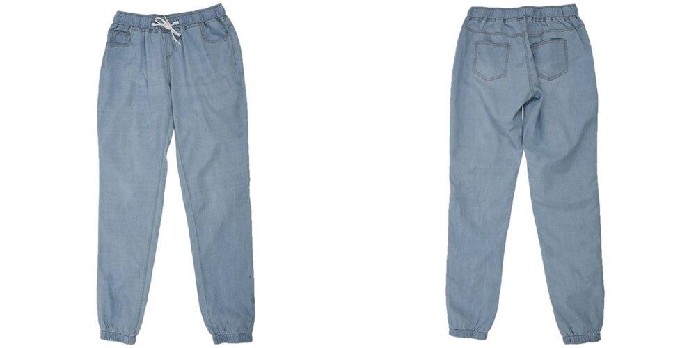 18 New Autumn Pencil Pants Vintage High Waist Jeans New Womens Pants Full Length Pants Loose Cowboy Pants Plus Size 5XL 6XL 12