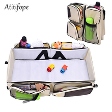 Travel Infant Bed Portable Bassinet Diaper Bag Changing Station Travel Crib Bed for Babies Multi-Functional Bassinet
