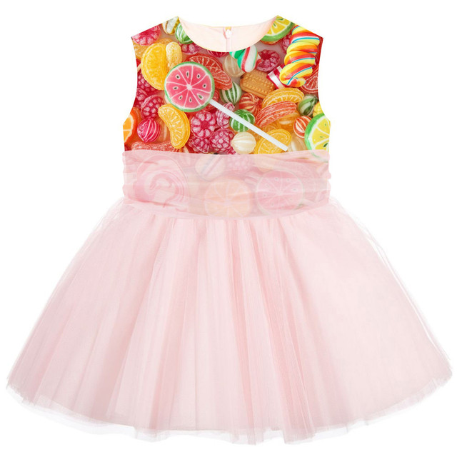 Kids Dress For Girls new Princess Wedding Party es Girl sweet Candy print  Clothes 0-10Y Bridesmaid Children Clothing db50ad4c65bf
