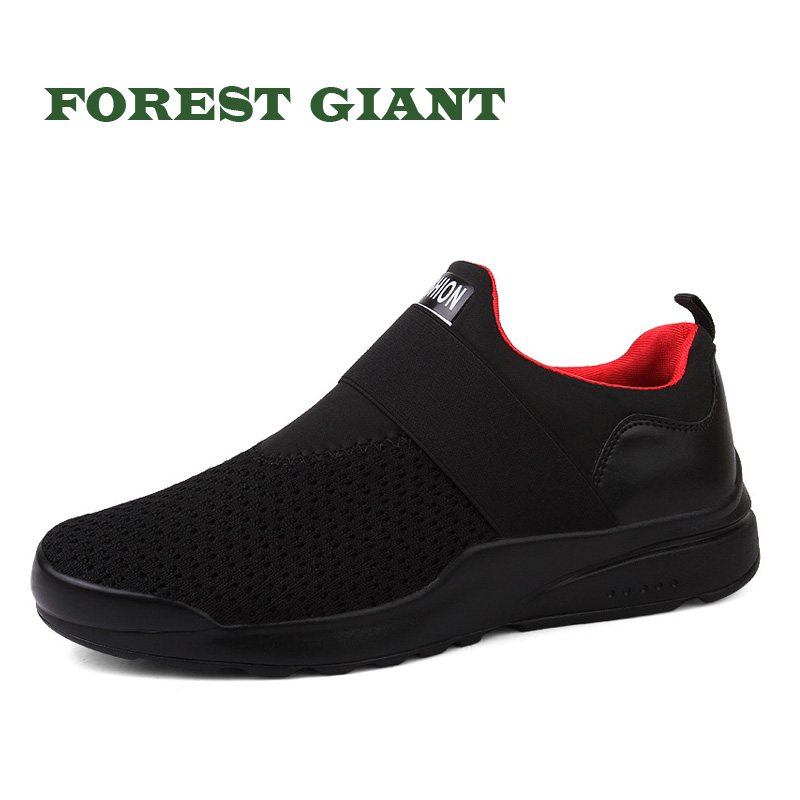 FOREST GIANT Men Casual Shoes Breathable Summer and Spring Sneakers Casual Shoes Fashion Lace up Male Sneakers Mesh Shoes 303