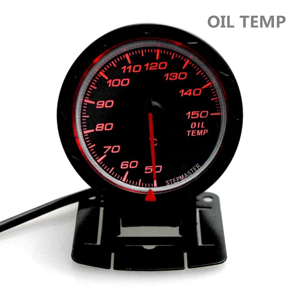 2.5inch 60mm Adjustable 7 Color 12V Oil Pressure//Press Gauge Car Meter Universal