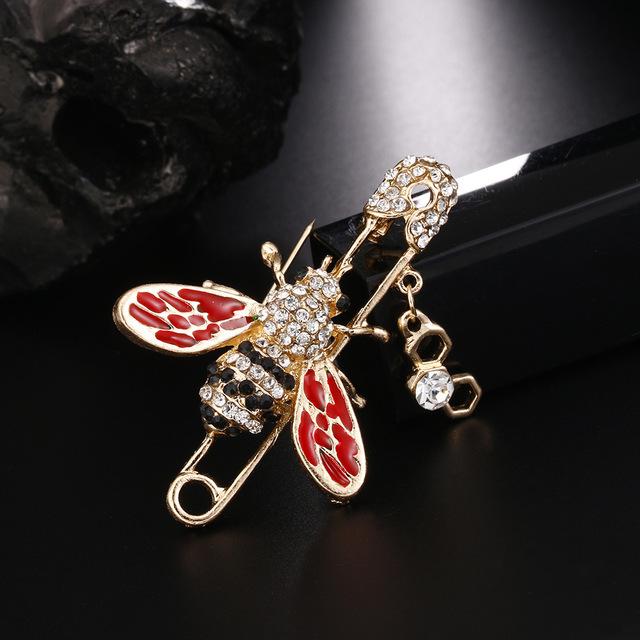 Creative honeybee pin brooch female accessory