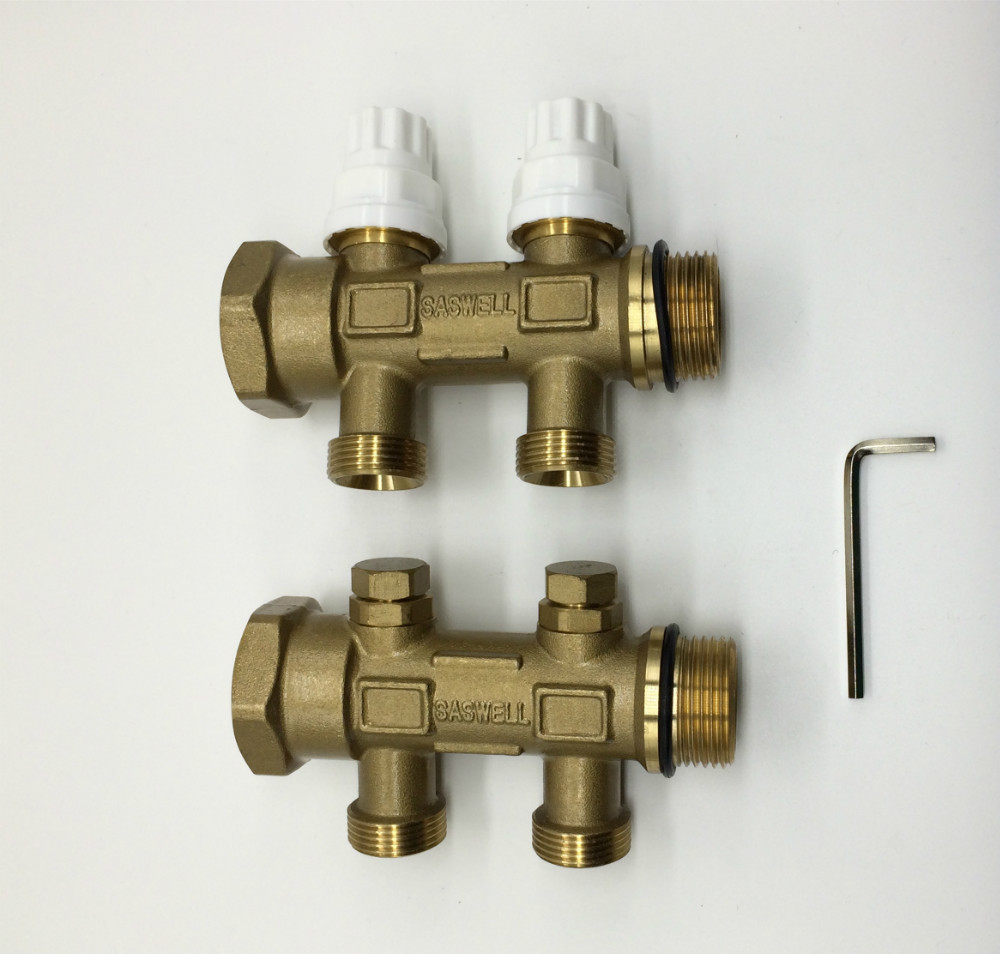 loops пиджак 2 loops return&supply manifold,SDU-2ZA Manifold fitting parts,two loops water floor heating system,manifold water radiant heater
