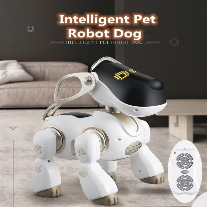 mais novo brinquedo de aprendizagem educacional controle remoto rc robo cao animal estimacao simulacao ai pode