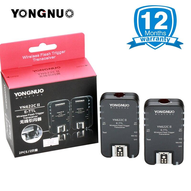YONGNUO TTL Flash Trigger YN-622C II/YN622C-TX sincronización de alta velocidad para Canon cámara 1000D 650D 600D 7D 5 DIII