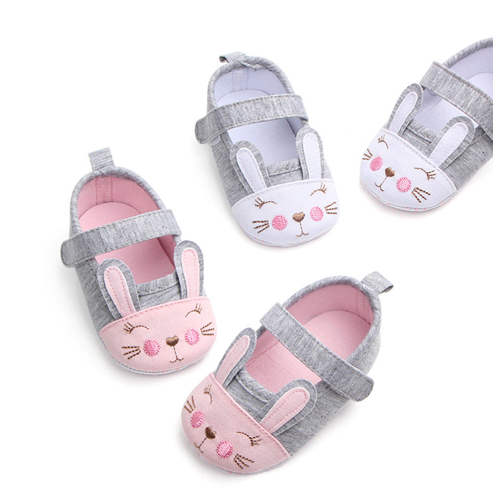 UK Infant Toddler Baby Girl 0-18M Crib Pram Shoes Ruffle Soft Sole First Walkers