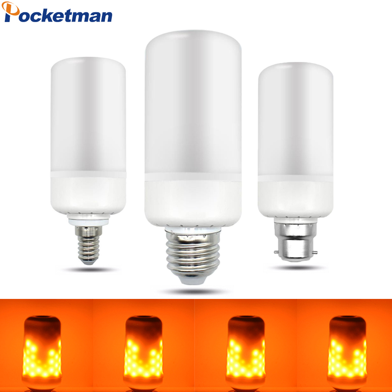 E27 E14 B22 2835SMD LED Flame Effect Fire Light Bulbs 5W Creative Lights Flickering Emulation Vintage Atmosphere Decorative Lamp