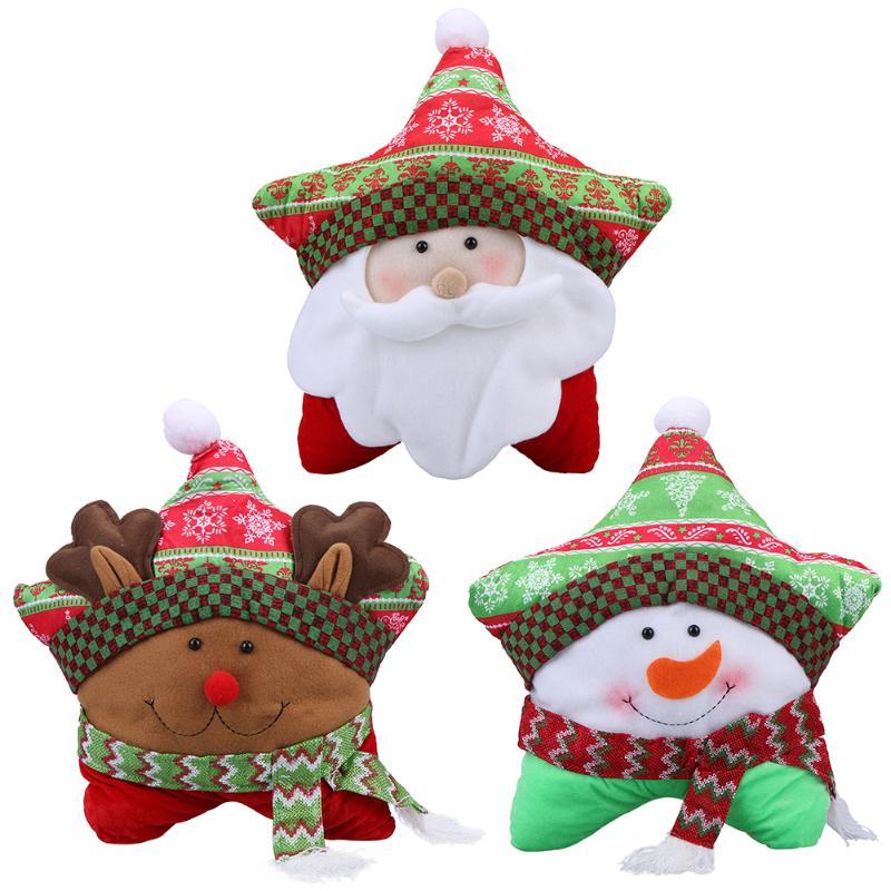 Pentagram Christmas Pillow Cushion Santa Claus Snowman Elk Home Decoration Hugging Pillow Party Home Decoration Kids Gift