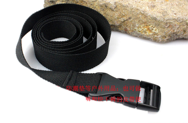 2pcs Lot Outdoor Straps Nylon Tape Backpack Buckle Cord Lock Tie Belt Sleeping Bag Tool