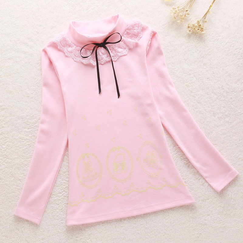 Girls Lace Bow Sweater (4)