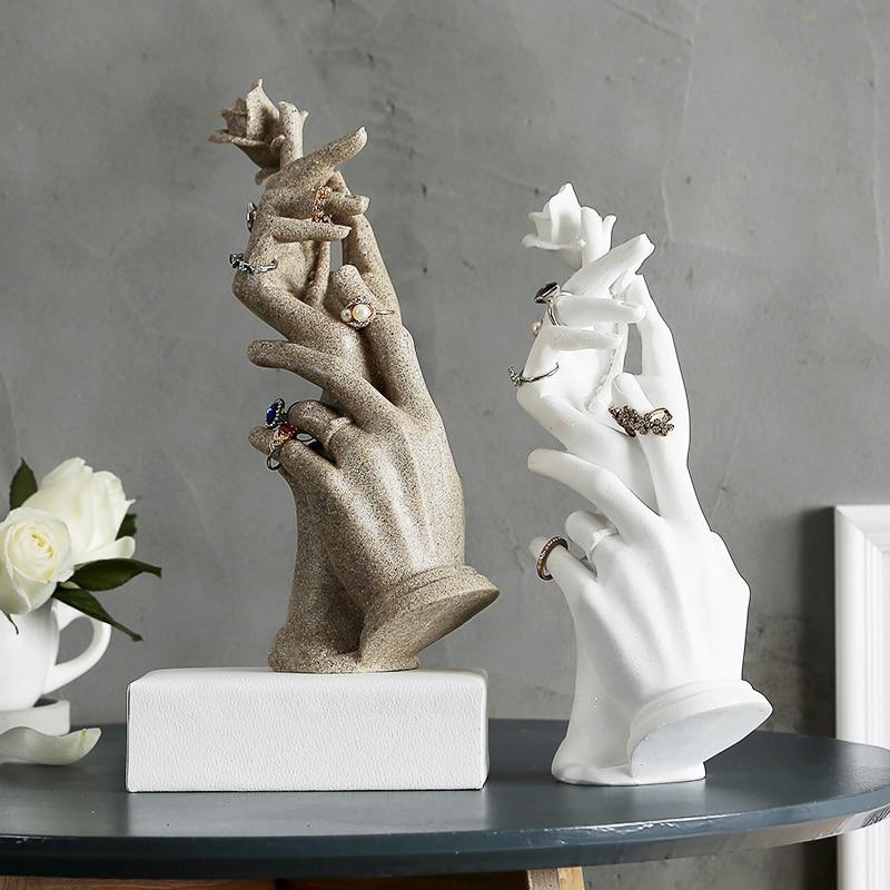 Creative Jewelry Organizers Ring Storage Rack Jewelry Hand Model Wedding Gift Earrings Jewelry Display Rack Home