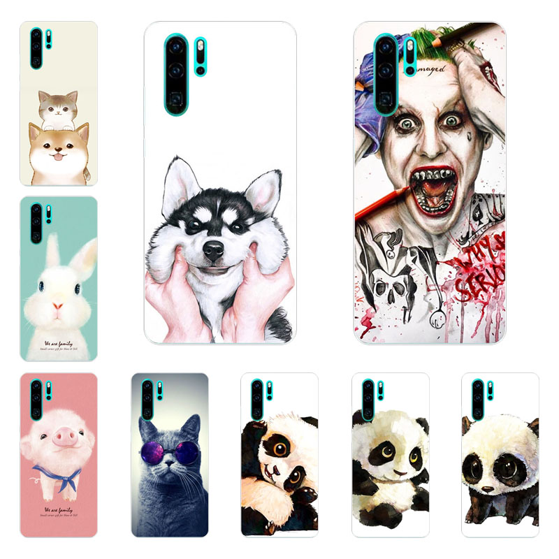 Temperate Huawei P30 Lite Case,silicon Super Panda Painting Soft Tpu Back Cover For Huawei P30 Pro Protect Phone Shell Phone Bags & Cases Fitted Cases