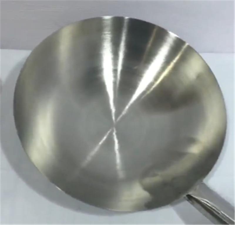 Handmade Wooden Handle No Coating Wok Chinese Style Iron Pan 3