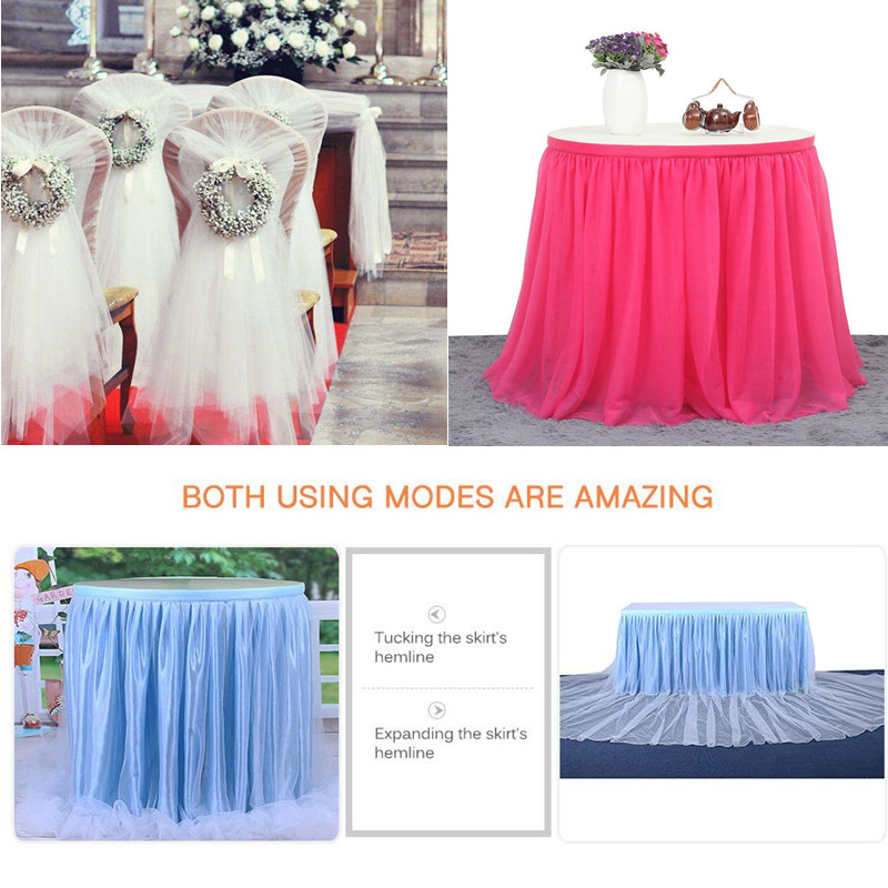 Detail Feedback Questions about 48CMx5M Wedding Room Decoration Tulle Roll  Gauze Element Fabric Spool Tutu Party Birthday Gift Wrap Wedding Party  Supplies ... c59f49fee6e0