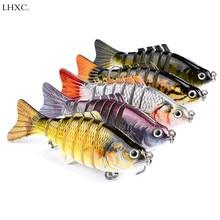 5 Colors Fishing Lures Wobblers Swimbait Crankbait Hard Bait Isca Artificial Fishing Tackle Lifelike Lure 7 Segment 15.5g 10cm